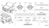 Related Parts for Nissan Armada Emblem - 90891-7S005