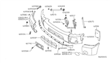 Diagram for Nissan Armada Bumper - 62024-7S225