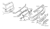 Diagram for Nissan Armada Bumper - 85022-ZQ00A