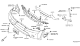 Diagram for Nissan Armada Bumper - 62022-7S202