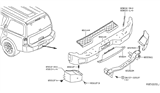 Diagram for Nissan Armada Bumper - 85014-7S000