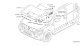 Diagram for Nissan Lift Support - 65470-7S000