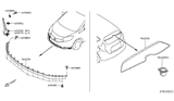 Related Parts for Nissan Versa Note Air Deflector - 96015-3VY0A