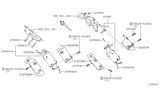 Diagram for Nissan Catalytic Converter - 208A0-9S225