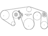 Nissan NV Drive Belt - 11720-1PD0A