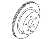 Nissan Leaf Brake Disc - 43206-4BA0A