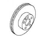 Nissan Brake Disc - 43206-JA00A