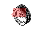 Nissan 12303-7S01C PULLEY-CRANKSHAFT