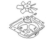 Nissan Van Radiator fan - 92120-17C02