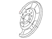 Nissan 350Z Brake Backing Plate - 44030-EG010