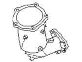Nissan Catalytic Converter - B08A0-3Y102