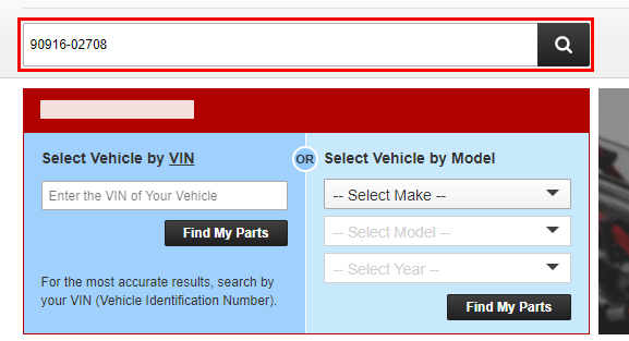 How can I search by part number?