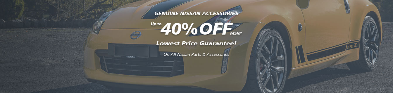 Genuine Nissan accessories, Guaranteed lowest prices